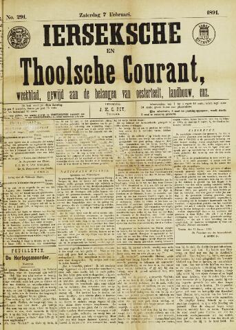 Ierseksche en Thoolsche Courant 1891-02-07