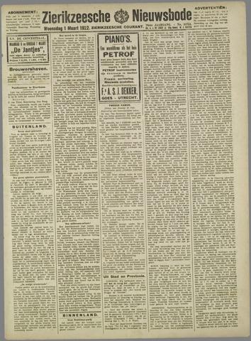 Zierikzeesche Nieuwsbode 1922-03-01