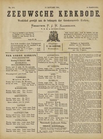 Zeeuwsche kerkbode, weekblad gewijd aan de belangen der gereformeerde kerken/ Zeeuwsch kerkblad 1891-01-10