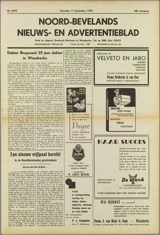 Noord-Bevelands Nieuws- en advertentieblad 1954-09-11