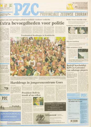 Provinciale Zeeuwse Courant 2003-10-18