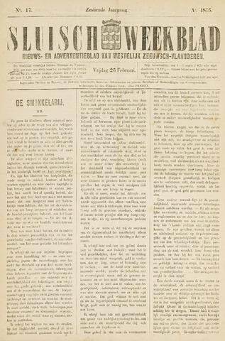 Sluisch Weekblad. Nieuws- en advertentieblad voor Westelijk Zeeuwsch-Vlaanderen 1875-02-26