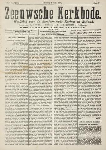 Zeeuwsche kerkbode, weekblad gewijd aan de belangen der gereformeerde kerken/ Zeeuwsch kerkblad 1920-07-02