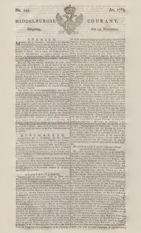 Middelburgsche Courant 1763-11-29