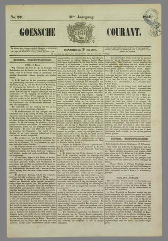 Goessche Courant 1854-03-09