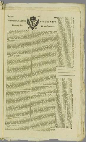Middelburgsche Courant 1809-04-29