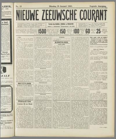 Nieuwe Zeeuwsche Courant 1913-01-28