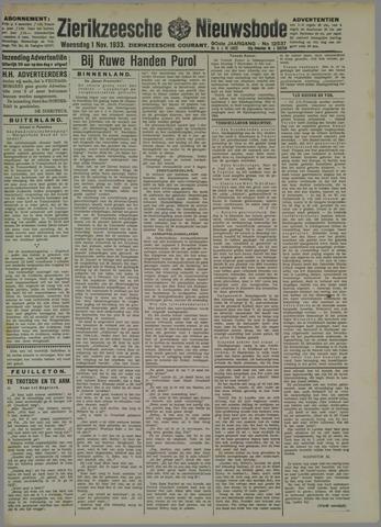 Zierikzeesche Nieuwsbode 1933-11-01