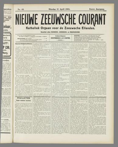 Nieuwe Zeeuwsche Courant 1905-04-11