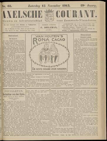 Axelsche Courant 1913-11-15