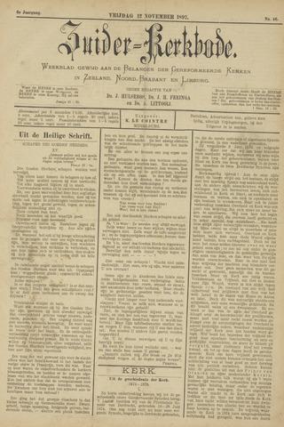 Zuider Kerkbode, Weekblad gewijd aan de belangen der gereformeerde kerken in Zeeland, Noord-Brabant en Limburg. 1897-11-12