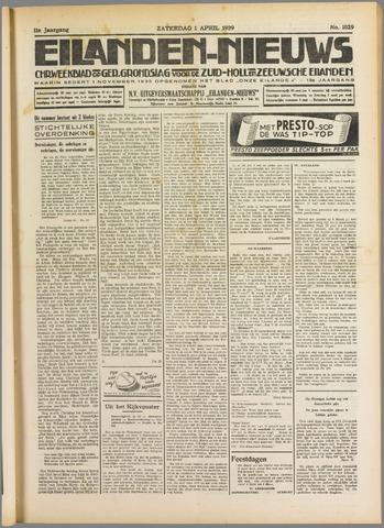 Eilanden-nieuws. Christelijk streekblad op gereformeerde grondslag 1939-04-01
