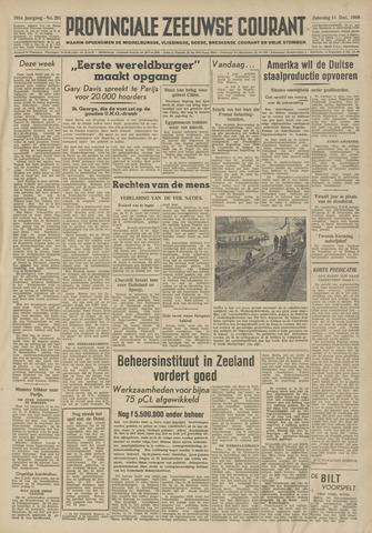 Provinciale Zeeuwse Courant 1948-12-11