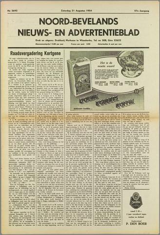 Noord-Bevelands Nieuws- en advertentieblad 1954-08-21
