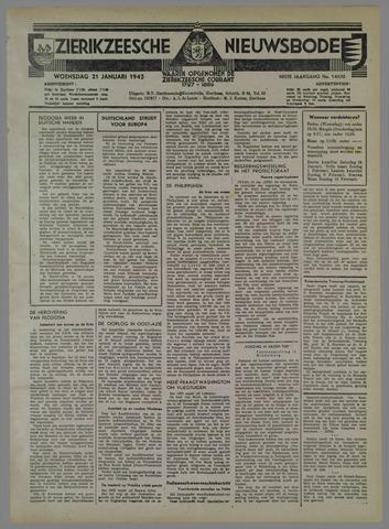 Zierikzeesche Nieuwsbode 1942-01-21