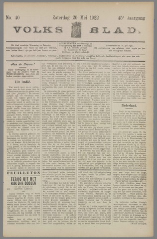Volksblad 1922-05-20
