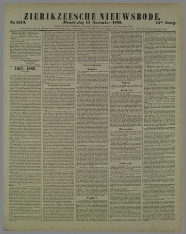 Zierikzeesche Nieuwsbode 1888-11-15
