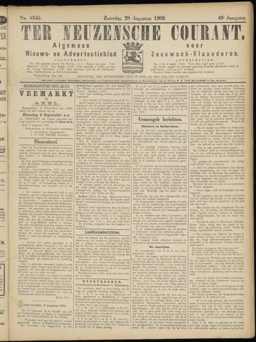 Ter Neuzensche Courant. Algemeen Nieuws- en Advertentieblad voor Zeeuwsch-Vlaanderen / Neuzensche Courant ... (idem) / (Algemeen) nieuws en advertentieblad voor Zeeuwsch-Vlaanderen 1909-08-28