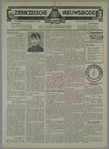 Zierikzeesche Nieuwsbode 1937-08-09