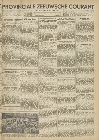 Provinciale Zeeuwse Courant 1944-03-01