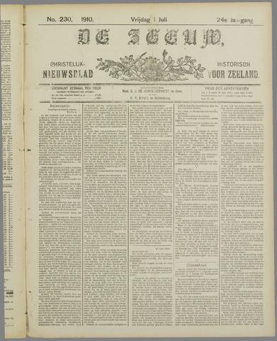 De Zeeuw. Christelijk-historisch nieuwsblad voor Zeeland 1910-07-01