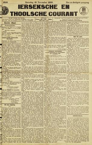 Ierseksche en Thoolsche Courant 1920-11-13