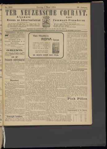 Ter Neuzensche Courant. Algemeen Nieuws- en Advertentieblad voor Zeeuwsch-Vlaanderen / Neuzensche Courant ... (idem) / (Algemeen) nieuws en advertentieblad voor Zeeuwsch-Vlaanderen 1914-03-07