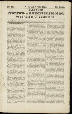 Ter Neuzensche Courant. Algemeen Nieuws- en Advertentieblad voor Zeeuwsch-Vlaanderen / Neuzensche Courant ... (idem) / (Algemeen) nieuws en advertentieblad voor Zeeuwsch-Vlaanderen 1863-06-03