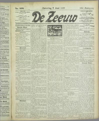 De Zeeuw. Christelijk-historisch nieuwsblad voor Zeeland 1919-06-07