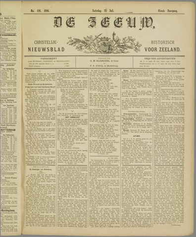 De Zeeuw. Christelijk-historisch nieuwsblad voor Zeeland 1896-07-25