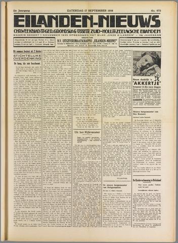 Eilanden-nieuws. Christelijk streekblad op gereformeerde grondslag 1938-09-17