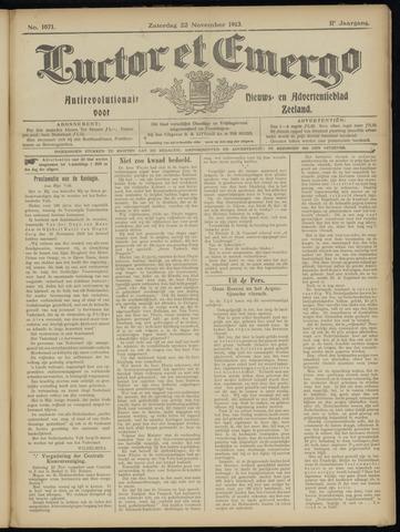 Luctor et Emergo. Antirevolutionair nieuws- en advertentieblad voor Zeeland / Zeeuwsch-Vlaanderen. Orgaan ter verspreiding van de christelijke beginselen in Zeeuwsch-Vlaanderen 1913-11-22