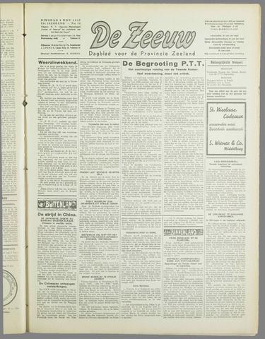 De Zeeuw. Christelijk-historisch nieuwsblad voor Zeeland 1937-11-09