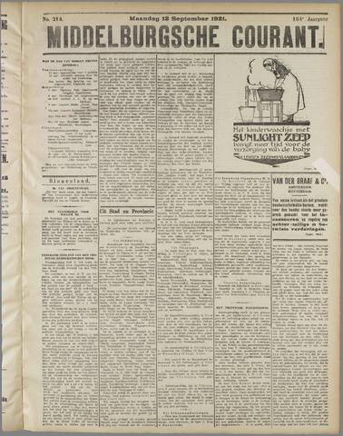Middelburgsche Courant 1921-09-12