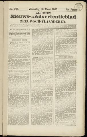Ter Neuzensche Courant. Algemeen Nieuws- en Advertentieblad voor Zeeuwsch-Vlaanderen / Neuzensche Courant ... (idem) / (Algemeen) nieuws en advertentieblad voor Zeeuwsch-Vlaanderen 1865-03-22