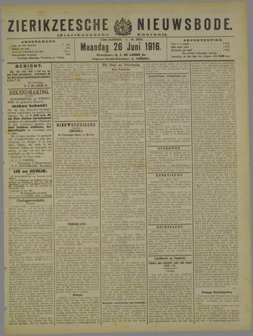 Zierikzeesche Nieuwsbode 1916-06-26