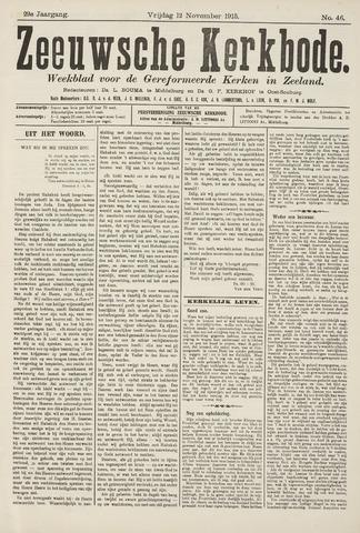 Zeeuwsche kerkbode, weekblad gewijd aan de belangen der gereformeerde kerken/ Zeeuwsch kerkblad 1915-11-12