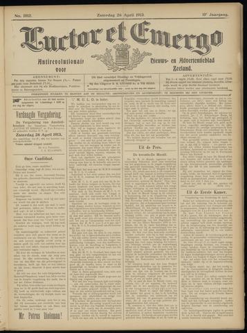 Luctor et Emergo. Antirevolutionair nieuws- en advertentieblad voor Zeeland / Zeeuwsch-Vlaanderen. Orgaan ter verspreiding van de christelijke beginselen in Zeeuwsch-Vlaanderen 1913-04-26