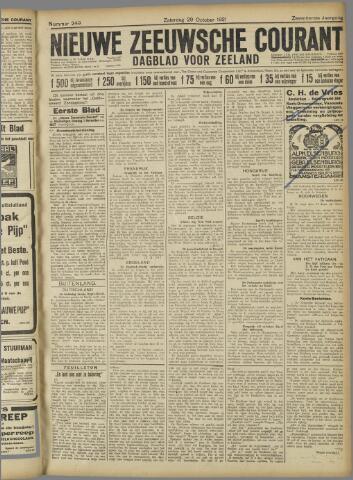 Nieuwe Zeeuwsche Courant 1921-10-29