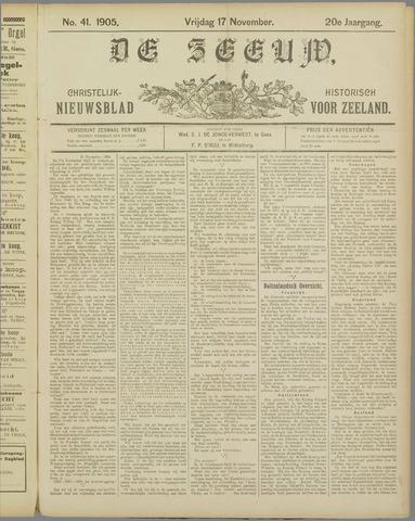 De Zeeuw. Christelijk-historisch nieuwsblad voor Zeeland 1905-11-17