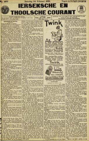 Ierseksche en Thoolsche Courant 1923-02-24