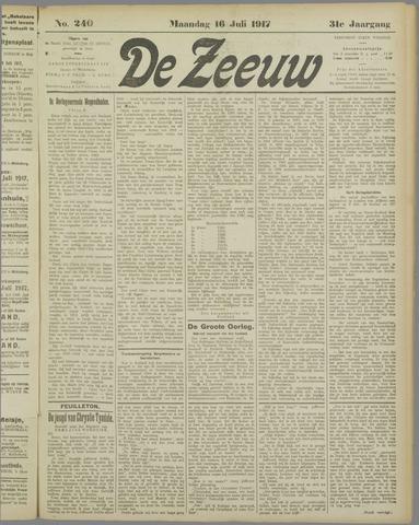 De Zeeuw. Christelijk-historisch nieuwsblad voor Zeeland 1917-07-16