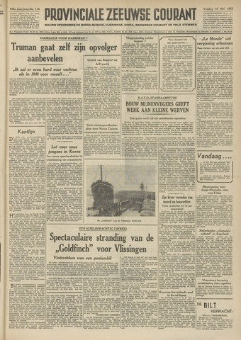 Provinciale Zeeuwse Courant 1952-05-16