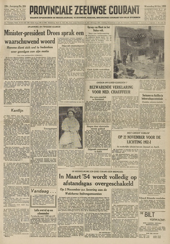 Provinciale Zeeuwse Courant 1953-10-28