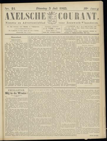 Axelsche Courant 1923-07-03