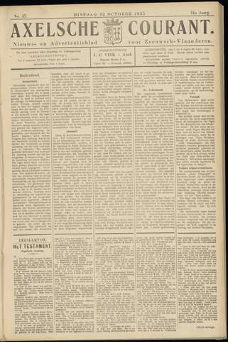Axelsche Courant 1935-10-22