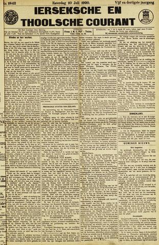 Ierseksche en Thoolsche Courant 1920-07-10