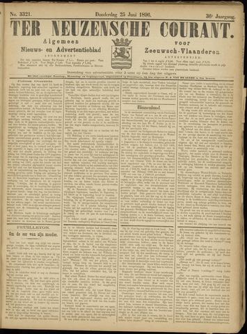 Ter Neuzensche Courant. Algemeen Nieuws- en Advertentieblad voor Zeeuwsch-Vlaanderen / Neuzensche Courant ... (idem) / (Algemeen) nieuws en advertentieblad voor Zeeuwsch-Vlaanderen 1896-06-25