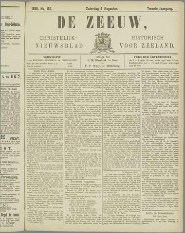 De Zeeuw. Christelijk-historisch nieuwsblad voor Zeeland 1888-08-04