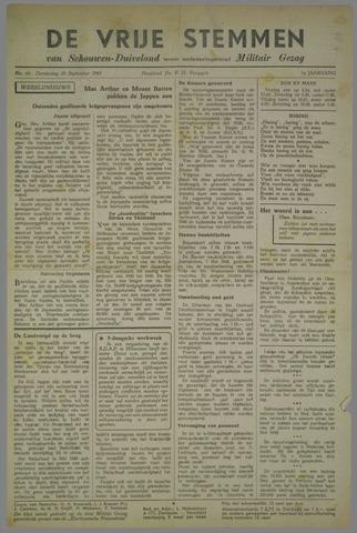 Vrije Stemmen van Schouwen-Duiveland, tevens mededeelingenblad Militair Gezag 1945-09-20